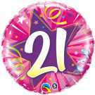 21 Foil Balloon birthday pink