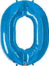 Blue Zero Number Foil Balloon