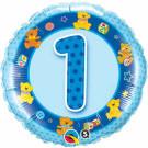 Blue One Birthday Foil Balloon