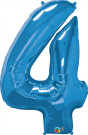 Blue Four Number Foil Balloon