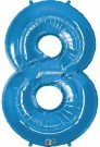Blue Number Eight Foil Balloon