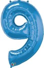 Blue Number Nine Foil Balloon