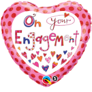 Engagement Foil Balloon Hearts