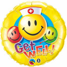 Get Well Smile Face Foil Balloon