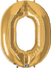 Gold Zero Number Foil Balloon