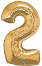 Gold Number Two Foil Balloon