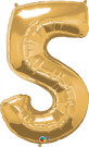 Gold Number Five Foil Balloon
