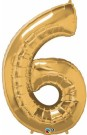 Gold Number Six Foil Balloon