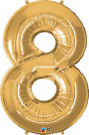 Gold Eight Number Foil Balloon