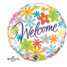 Welcome Foil Balloon Flowers