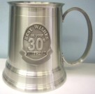 30th Birthday Pewter Beer Stein Mug