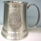 50th birthday pewter beer mug stein