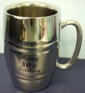 30th Birthday Stainless Steel Barrel Mug Stein Tankard