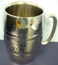 40th Birthday Stainless Steel Barrel Mug Stein Tankard