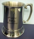 30th Birthday Stainless Steel Tankard Stein Mug