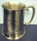 40th Birthday Stainless Steel Tankard Beer Mug