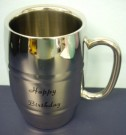 Happy Birthday Stainless Steel Barrel Mug Beer Stein