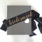 Sash Bridesmaid Black Gold Whimsy Chuffed