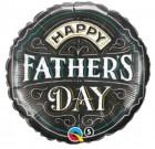 Fathers Day Foil Balloon Chalk Black