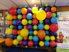 Balloon Wall Backdrop Rainbow Organic Abstract