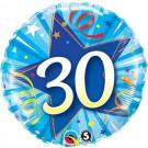 30 blue qualatex foil balloon