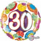 30 foil balloon dots qualatex