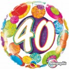 40th birthday qualatex foil balloon