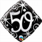 50th black diamond qualatex foil balloon