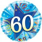 60th blue qualatex foil balloon