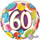 60th dots qualatex foil balloon