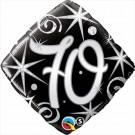 70th Black Diamond foil balloon