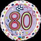80th birthday foil balloon rachel ellen qualatex