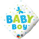 Baby Boy Dots Foil Balloon Qualatex