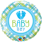 Baby Boy Feet Qualatex Foil Balloon
