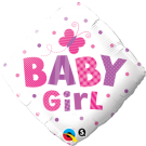 Baby Girl Dots Diamond Foil Balloon Qualatex