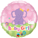 baby girl elephant foil balloon qualatex