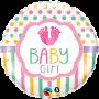 Baby Girl Feet Foil Balloon