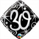 black diamond 30 foil balloon qualatex