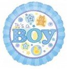 It's a Boy pattern foil balloon anagram