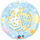 It's A Boy Giraffe Blue Foil Balloon Qualatex