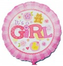 It's a girl pattern foil balloon anagram pink