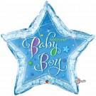 Welcome baby boy star foil balloon