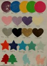paper garlands colour charts balloons