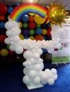 Balloon Selfie Frame Photo Booth Rainbow