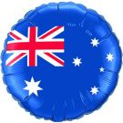 australian aussie day flag foil balloon