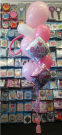baby bouquet dummy pink girl balloons