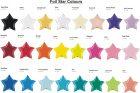 foil star balloon colours qualatex