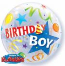birthday boy bubble balloon qualatex