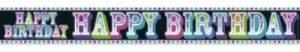 birthday foil banner
