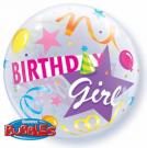 birthday girl bubble balloon qualatex